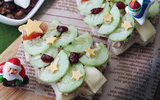 Bánh sandwich hình cây thông Noel đẹp mắt ngon miệng
