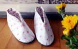 Khéo tay tự may giày đi trong nhà thật xinh