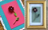Tự làm thiệp hoa giấy xoắn nhỏ xinh đáng yêu