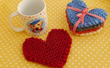 Hướng dẫn đan trái tim len làm lót ly xinh xắn