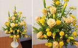 Cắm hoa đẹp với sắc vàng rực rỡ chào hè