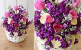 Cách cắm hoa xen quả để bàn đơn giản, đẹp mắt