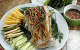 Món ngon cuối tuần: Bún cuốn cá hấp