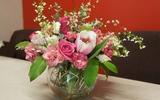 Cắm hoa đẹp với sắc hồng dịu dàng quyến rũ