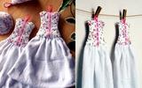 Tự may khăn lau tay hình chiếc váy siêu xinh