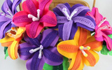 Làm hoa vải rực rỡ trang trí nhà đầy sức sống