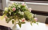 Cắm hoa sắc trắng đẹp tinh khôi thanh nhã