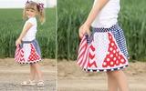 May chân váy có quần bên trong thật dễ dàng tặng bé!