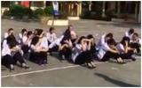 Giáo viên phạt học sinh chạy 10 vòng sân trường và ngồi giữa trời nắng