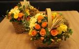 Cắm hoa sắc vàng cam trang trí nhà đầy sức sống