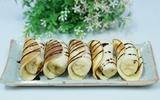 Bánh Pancake cuộn chuối cho bữa sáng ngon miệng
