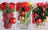 3 cách cắm hoa đẹp lung linh cho dịp Noel