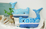 Tự làm gối cá voi xanh trang trí nhà cực ấn tượng