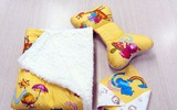 Tự may bộ chăn gối và khăn đáng yêu tặng bé