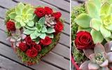 Cắm hoa hình trái tim đẹp ấn tượng thật đơn giản