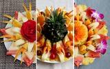 3 cách bày đĩa trái cây đơn giản mà đẹp