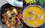 Cá kho dưa chua và canh bí đỏ nấu sườn ngon cơm bữa tối