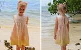 Tự may váy liền xinh cho bé đi biển ngày hè
