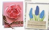 Nhanh tay làm thiệp hoa xinh với 2 cách siêu đơn giản