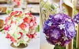 2 cách làm quả cầu hoa trang trí tiệc cưới ấn tượng