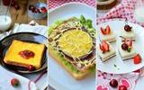 3 món ăn sáng ngon - đẹp - dễ với bánh mỳ sandwich