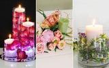 3 cách cắm hoa với nến lãng mạn tinh tế