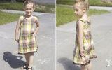 Mẹ may váy xinh yêu tặng bé tung tăng xuống phố