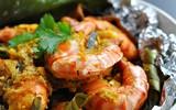 Tôm nướng lá chuối - món ngon tuyệt hảo đổi vị cuối tuần