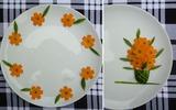 5 kiểu trang trí đĩa ăn cực đẹp từ 2 cách cắt tỉa dưa leo cà rốt