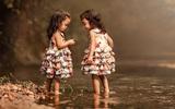 Tan chảy với bộ ảnh tuyệt đẹp về 2 bé sinh đôi