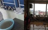 Hà Nội: Mẹ trắng đêm bế con, cầm ô chống bão