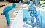 Mặc kín mít hàng ngày, phụ nữ Hồi giáo diện Burkini đi bơi