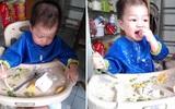 Con ăn dặm BLW: Bữa ăn như… bãi chiến trường!