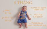 12 bức ảnh cực yêu ghi lại cột mốc trong năm đầu đời của bé