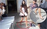Jeon Ji Hyun mang dép tông xỏ ngón vẫn gây chú ý ở Tây Ban Nha