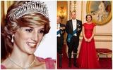 Công nương Kate lại trở thành tâm điểm khi sử dụng món đồ tuyệt đẹp của mẹ chồng