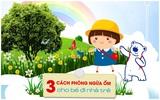 3 cách để bé không bị ốm khi đi nhà trẻ
