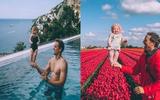 Chao đảo với loạt ảnh cùng con đi khắp thế gian của cặp vợ chồng nổi tiếng mạng xã hội