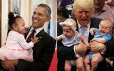 Khoảnh khắc hóm hỉnh khi Tổng thống Barack Obama và Donald Trump chơi với trẻ nhỏ