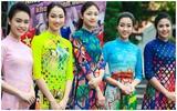 Hoa hậu Mỹ Linh, Ngọc Hân diện áo dài nền nã bên dàn người đẹp