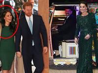 """Cuộc đọ sắc của 2 nàng dâu hoàng gia Anh: Xuất hiện trong buổi tối cùng ngày, người rạng rỡ tỏa sáng, kẻ bị chê bai vì """"chơi xấu"""" chị dâu"""