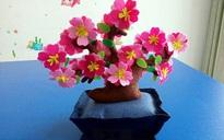 Trang trí nhà đẹp đón Tết với chậu hoa đào không bao giờ tàn