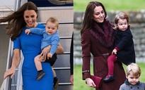 """Giống nhiều bà mẹ khác, công nương Kate cũng thích mặc đồ """"tông xuyệt tông"""" với con mình"""