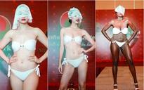 Đối thủ của Hà Thu lộ khuyết điểm bụng to, dáng thô trong phần thi bikini tại Miss Earth