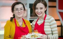 Angela Phương Trinh đảm đang vào bếp cùng mẹ