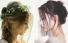 Xu hướng tóc búi bay bổng cho cô dâu mùa hè