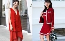 Street style ngập tràn sắc đỏ, nhìn mà thích mắt của quý cô hai miền