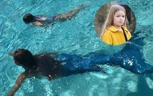 David khoe ảnh con gái Harper bơi cùng nàng tiên cá ở Maldives