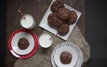 Không dùng bột mỳ vẫn làm được bánh quy chocolate siêu ngon
