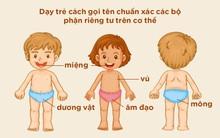 4 bộ phận trên cơ thể bố mẹ cần dạy con gọi tên một cách chính xác nhất